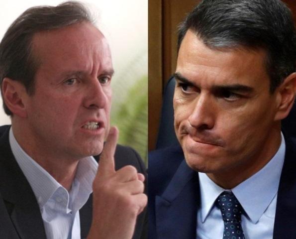 """Jorge """"Tuto"""" Quiroga, ex presidente de Bolivia, llamó a Pedro Sánchez """"Padrino de tiranos"""""""