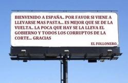 Lo mas grave de la situación española es que el pueblo cree firmemente que los políticos roban