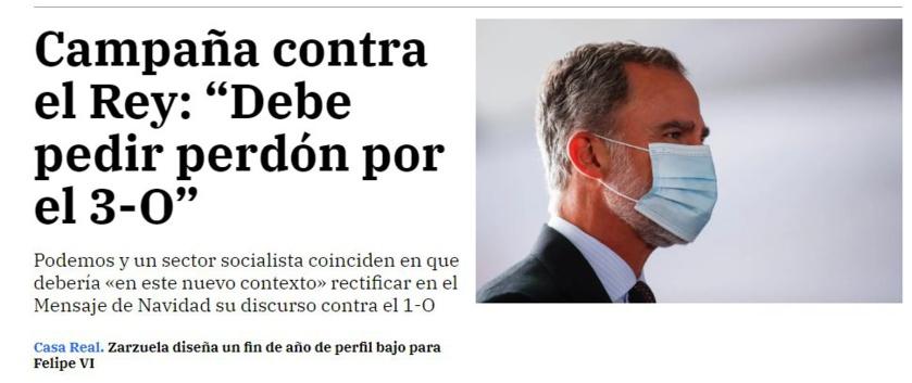 El rey de España está en peligro y el sistema también