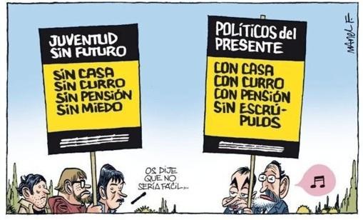 La clase política es la escoria de España