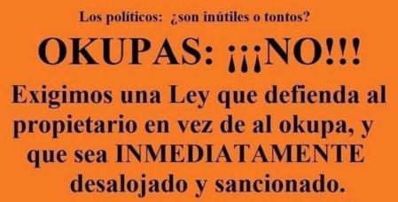"""Miles de carteles y de imágenes críticas contra los """"okupas"""" y el gobierno que los protege inundan España"""