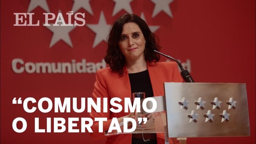 """La presencia de Pablo Iglesias en la batalla electoral de Madrid ha hecho que el PP cambie su eslogan y adopte el de """"Comunismo o Libertad"""""""