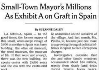El New York Times, como Voto en Blanco, exige una revolución democrática en España