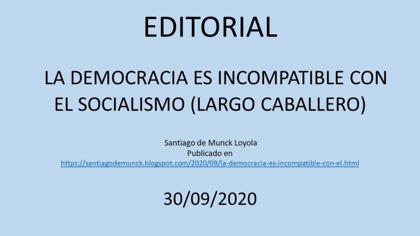 ¿Por qué el socialismo es incompatible con la democracia?