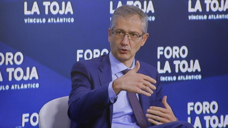 Pablo Hernández de Cos, gobernador del Banco de España, crítico con la política económica del sanchismo
