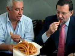 """Rajoy, Arenas y los """"churros"""""""