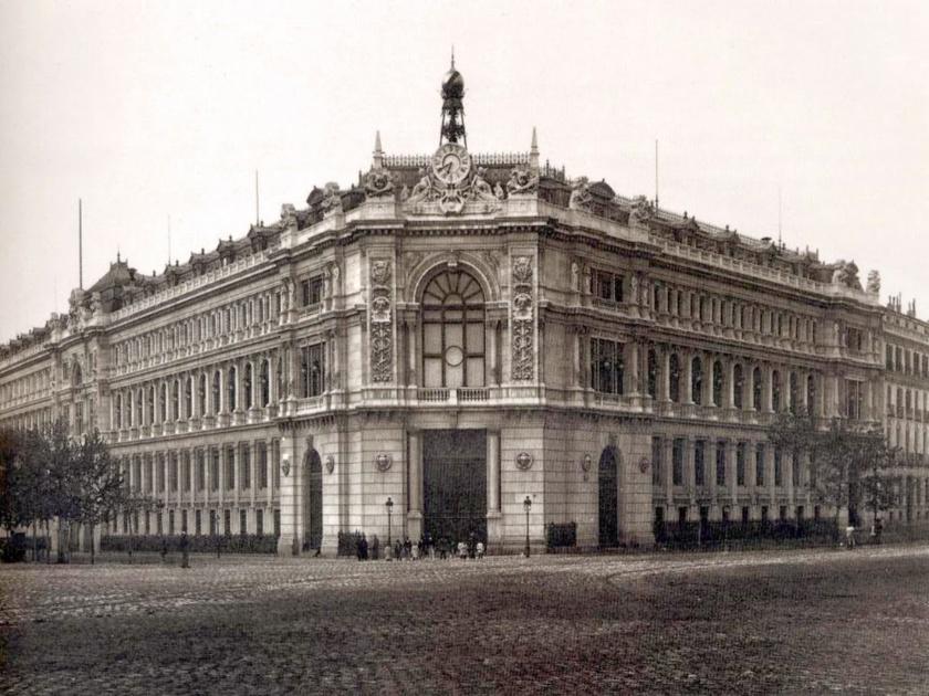 El edificio del Banco de España, saqueado en 1936