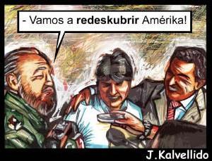 Fidel, Evo y Chávez