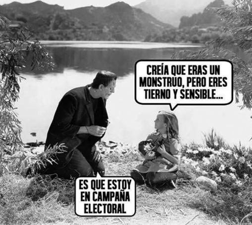 Campaña electoral desvergonzada