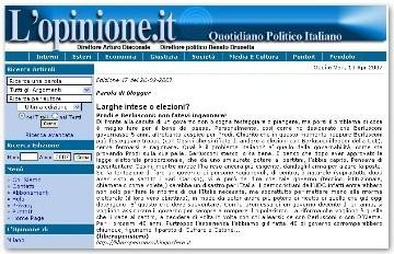 Voto en Blanco citado en la prensa italiana