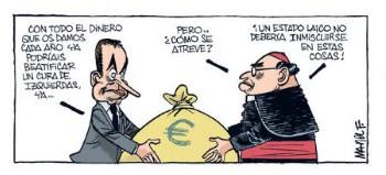 Zapatero fortalece a la Iglesia en España