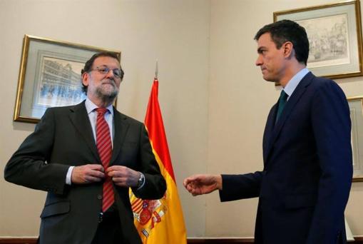 La indignante pelea de los niñatos. Rajoy y Sánchez se repelen y se odian