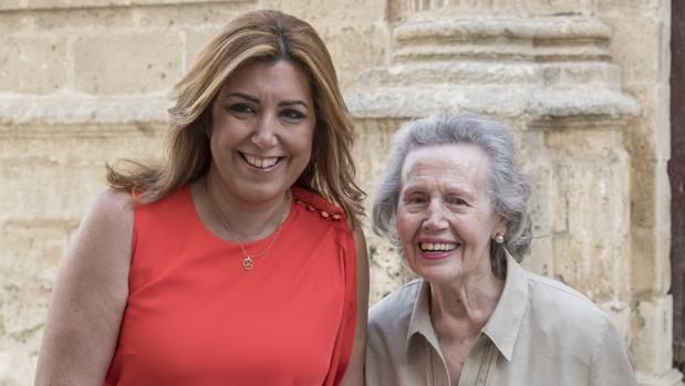 Susana y la hija de Blas Infante