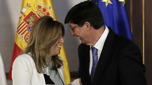 El lider de Cs en Andalucía, encantado de sostener el gobierno de Susana