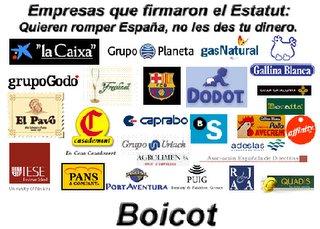 Uno de los muchos carteles de boicot que circulan por Internet