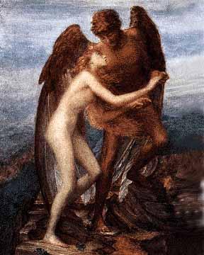 Enoc y un nephilim (ángel) viajando por el Universo