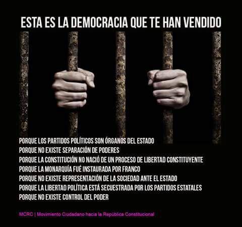 La democracia en España está muerta