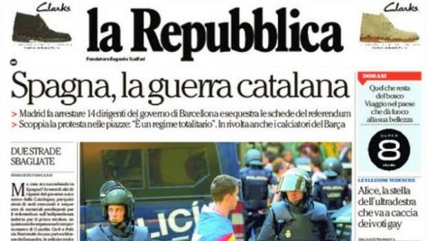 """Cierta prensa internacional ya especula con la """"guerra catalana"""""""