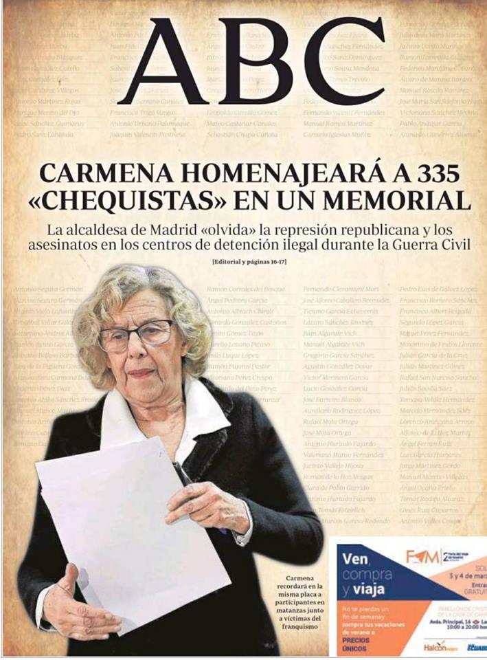 LOS CHEQUISTAS DE CARMENA