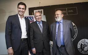 Tezanos con Sánchez y Guerra