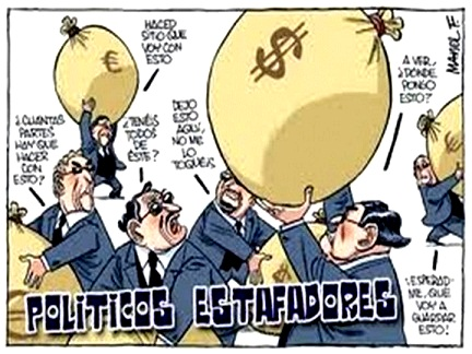 POLÍTICOS: ESTAFADORES DE CIUDADANOS Y FABRICANTES DE ESCLAVOS