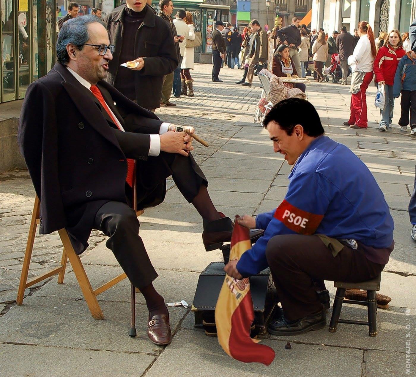 La servidumbre ante sus socios antiespañoles exaspera a la ciudadanía