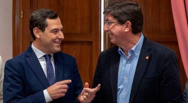 Juanma Moreno y Juan Marín, bajo la vigilancia de VOX, gobernarán la nueva Andalucía