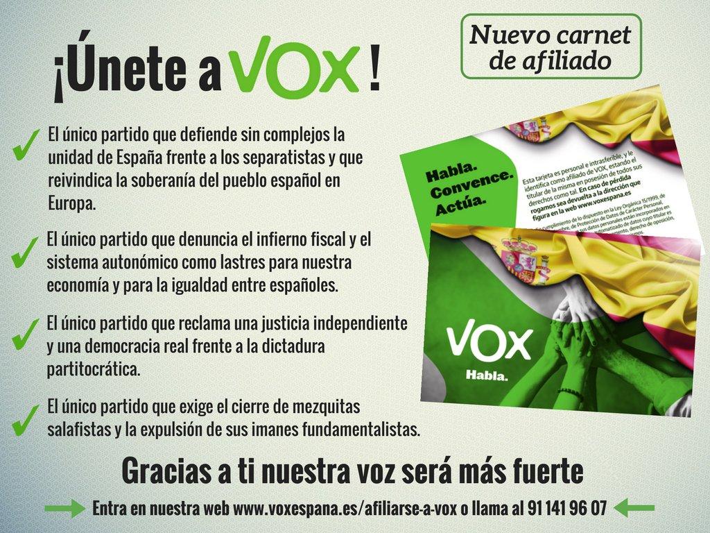 VOX es el único partido que emite en la misma frecuencia que los demócratas españoles