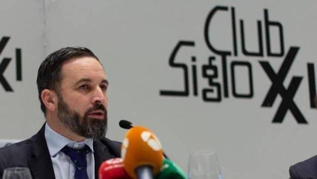 Abascal vaticinó en el Club Siglo XXI que el acoso de los progres le conducirá hasta la Moncloa
