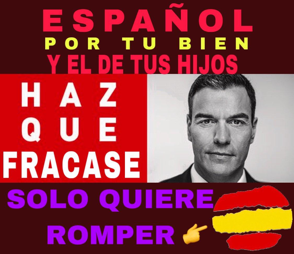 Una de las muchas imágenes contra Sánchez que circulan en la campaña de la división, la crispación y la falsedad