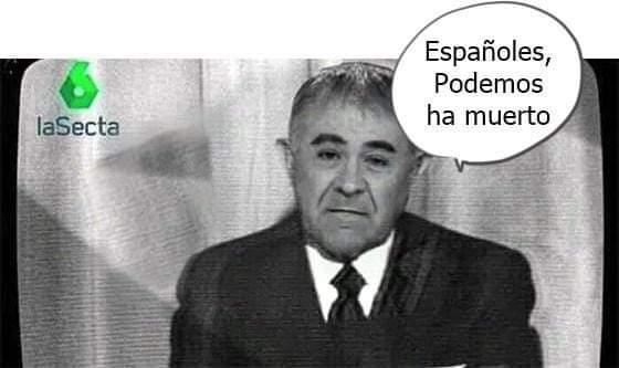 Imagen sobre el desastre de Podemos que circula por Internet