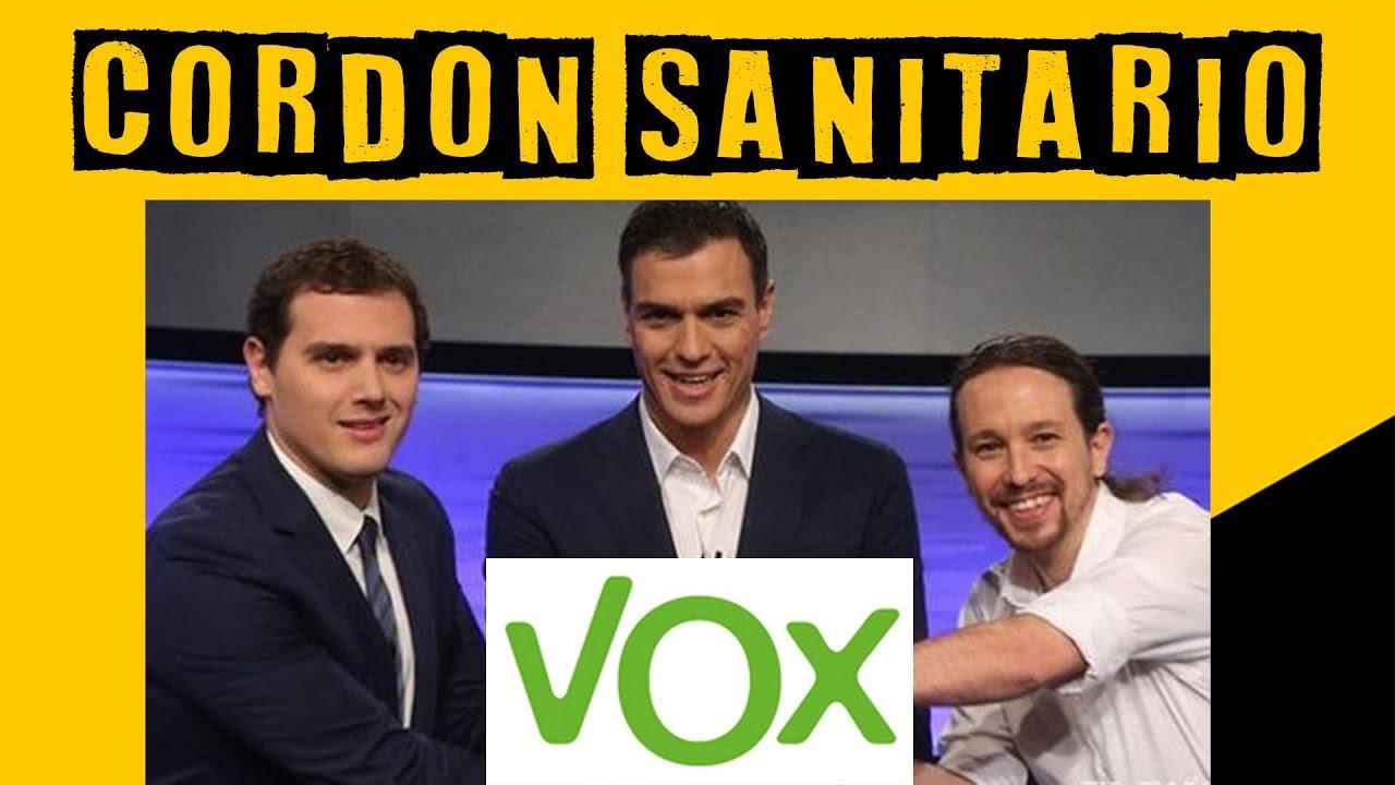 """La defensa de un """"cordón sanitario"""" contra VOX le costó a Rivera el fracaso de su partido y su retirada de la política. Lo mismo le ocurrirá a Sánchez y al comunista Iglesias. Los cordones sanitarios son fascistas y antidemocráticos."""