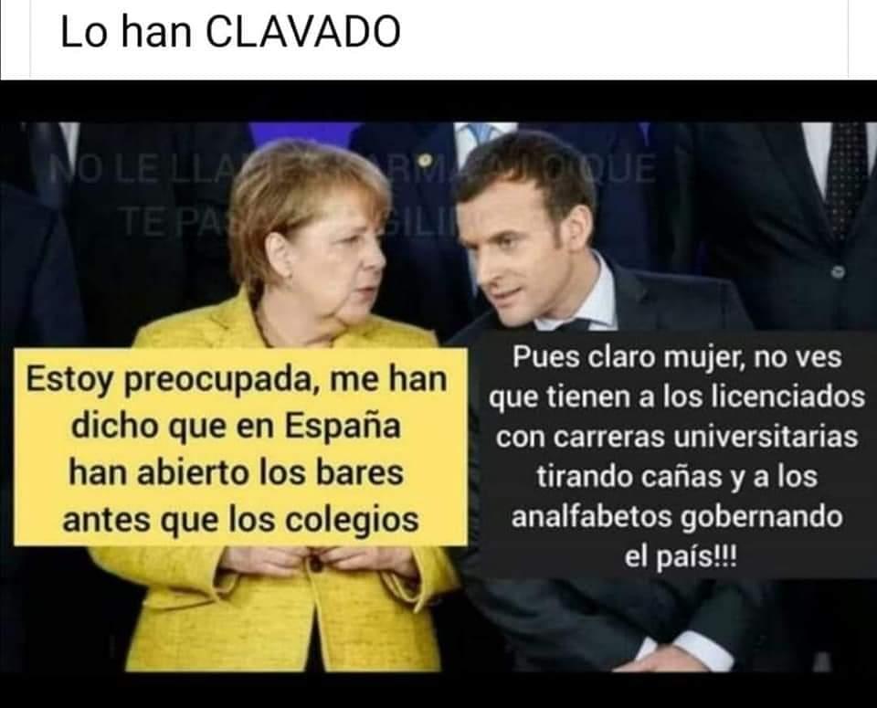 Una de las cientos de miles de imágenes críticas con el gobierno de Sánchez que inundan las redes sociales en España