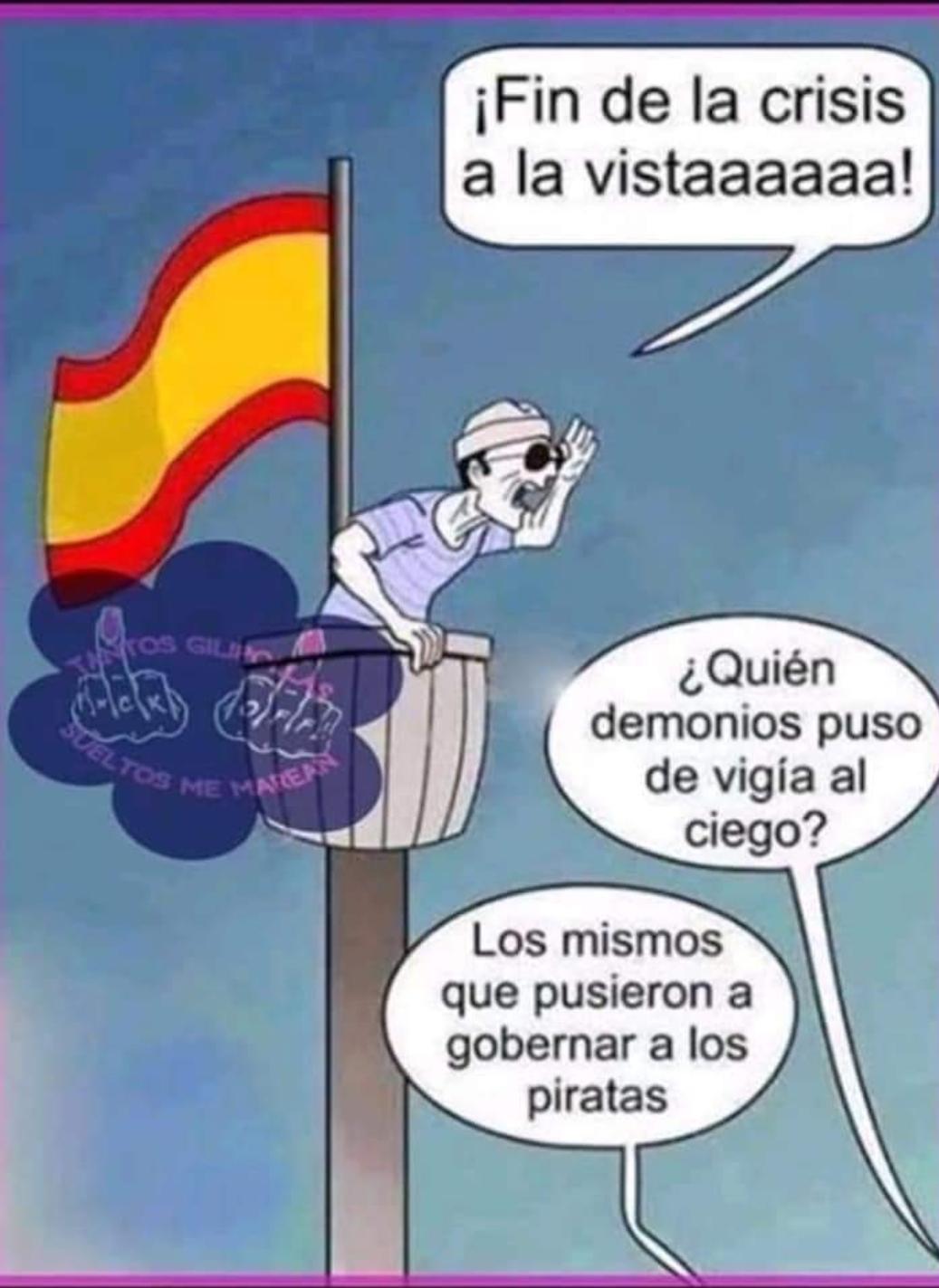 """Todos los políticos españoles """"en el mismo saco"""""""