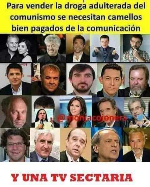 La lista de periodistas y medios sometidos al poder en España es inmensa. La imagen es una de las muchas que circulan por las redes denunciando el periodismo al servicio del poder.