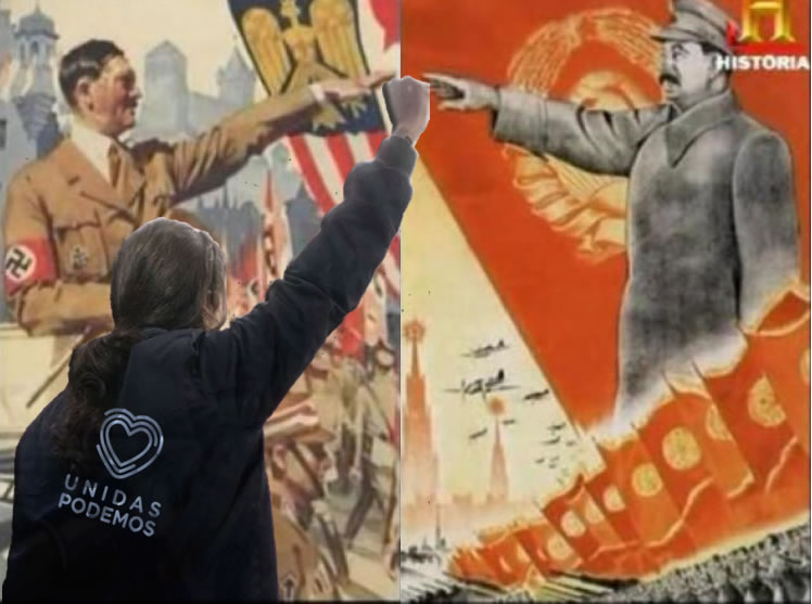 Nazis y comunistas, dos aberraciones igualmente antidemocráticas