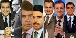 Presidentes del gobierno españoles desde 1978