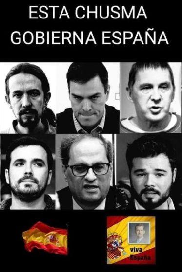 """Algunos representantes de la """"chusma"""" que gobierna España"""