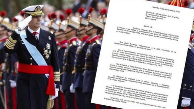 Cientos de militares escriben al rey denunciando las violaciones de la Constitución y las agresiones a la democracia desde el gobierno de Sánchez