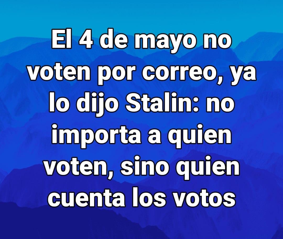 Uno de los muchos miles de mensajes sobre el fraude del voto por correo que circulan por las redes españolas