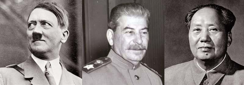 Stalin, Mao y Hítler, por ese orden, son los tres mayores asesinos de la Historia y los grandes símbolos del peligro y la maldad de la política y del Estado sin controles democráticos