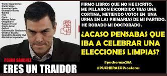 Uno de los muchos memes contra Sánchez que le acusan de tramposo y circulan intensamente por las redes