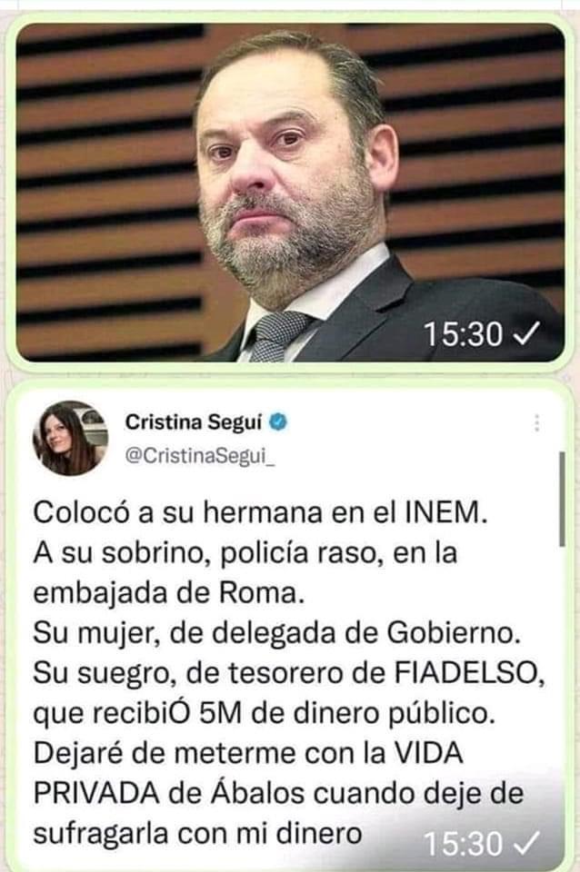 Una de las imágenes que circulan por Internet para resaltar la corrupción y los estragos del sanchismo en España