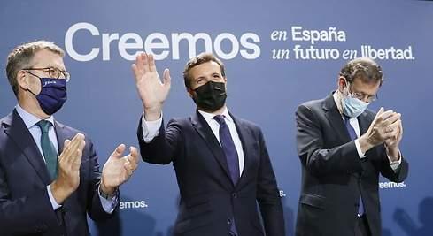 Tras querer separarse de la vía Rajoy, Casado rectifica y se hace rajoyano. Casado, Rajoy y Feijoo, el trio de ases del actual PP