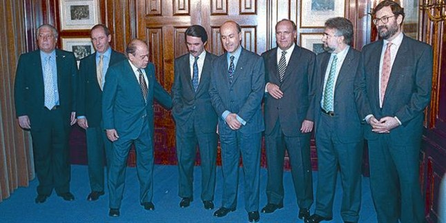 Pacto para gobernar entre Aznar y Pujol