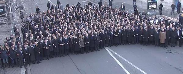 La foto real de los políticos en Paris