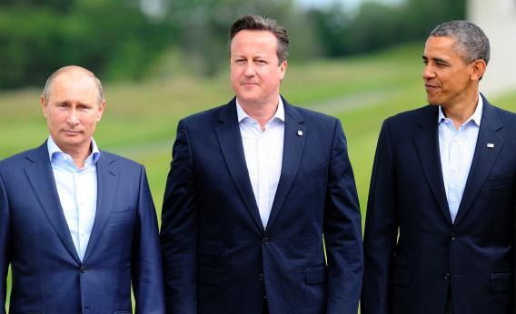 Putin, Cameron y Obama