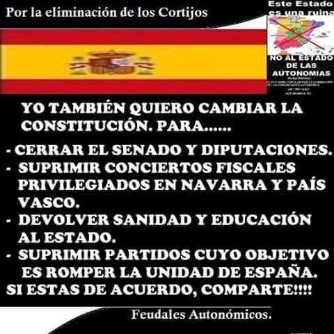 Una de las muchas imágenes que circulan en Internet reclamando cambios profundos en España