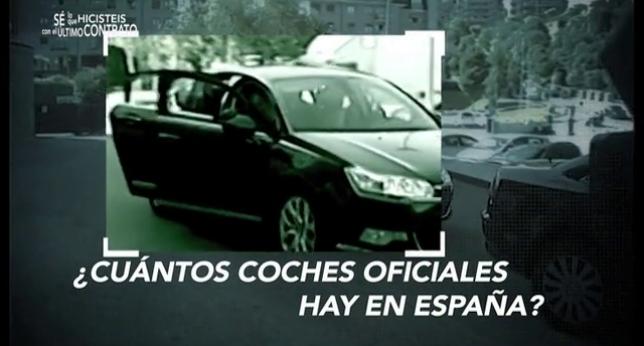 En España hay más coches oiciales que en cualquier otro país de Europa y más que en Estados Unidos
