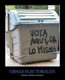En la falsa democracia española se vota, pero no se elige